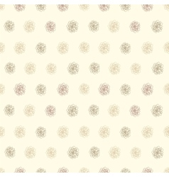 Vintage seamless background with flower polka dots vector image vector image