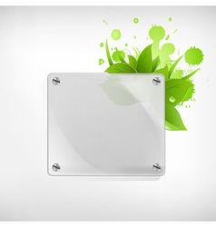 Eco Glass Background vector image vector image