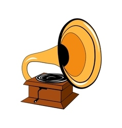 Gramophone Isolated on White vector image