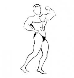 muscle man sketch vector image vector image