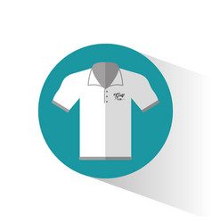 polo shirt golf wear vector image
