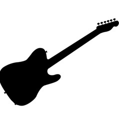 Rock Guitar Silhouette vector image vector image