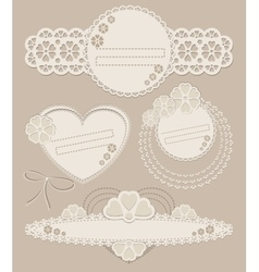 Set of vintage ornate frames with floral elements vector image