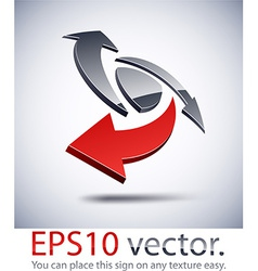 3D modern logo icon vector image