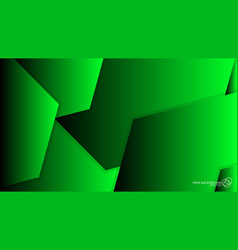 abstract background hexagon green light and shadow vector image