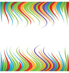 abstract colorful ripple strip background vector image
