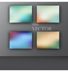 Abstract colorful smooth blurred vector