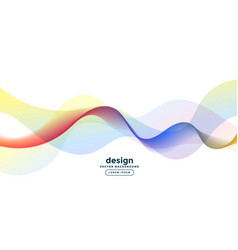 abstract colorful wave curve lines background vector image
