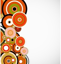 abstract orange rings floral background vector image