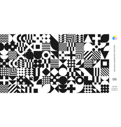 bauhaus pattern background abstract geometric vector image