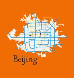 Beijing city map flat vector