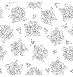 bouquets of roses Seamless pattern vector image