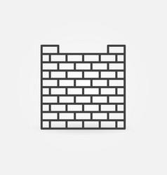 brick fence linear concept icon vector image