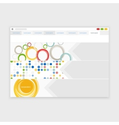 browser design with responsive website vector image