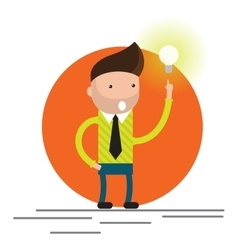 Businessman get idea vector
