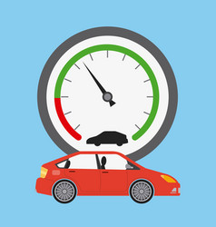 Car transport and speedometer industry automotive vector