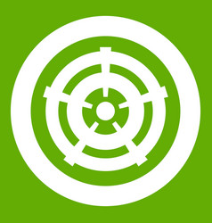 car wheel icon green vector image
