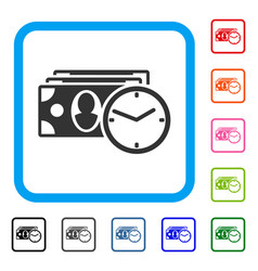 cash credit framed icon vector image