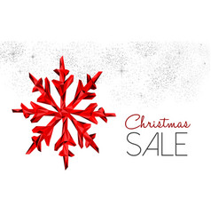Christmas sale red decoration for winter discount vector