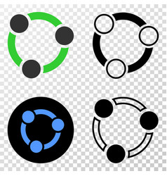 collaboration eps icon with contour version vector image