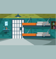 Colorful prison cell cartoon style vector