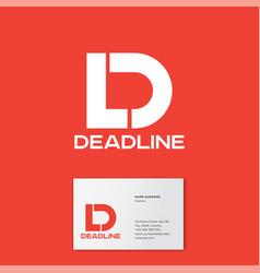 d l monogram logo deadline business card vector image