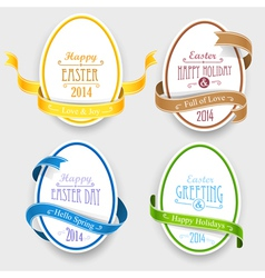 Easter emblems vector