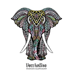 elephant colored vector image