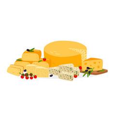 farm cheese set vector image