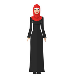 flat of a young muslim woman vector image