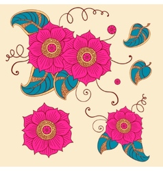 Floral set in vector