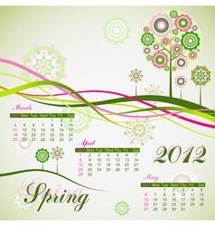 floral tree spring calendar 2012 eps10 vector image