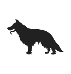 German shepherd black silhouette vector