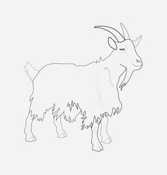 goat icon line element of vector image