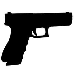 hand gun silhouette vector image