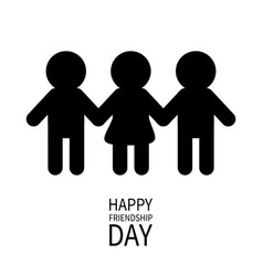 happy friendship day two black man male and one vector image