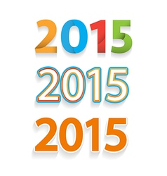 Happy new year 2015 celebration background banner vector image