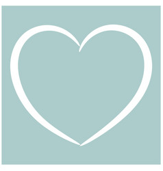 Heart the white color icon vector
