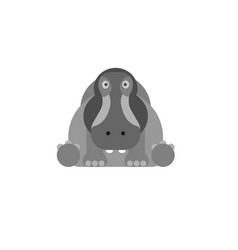 hippo symbol on a white background vector image