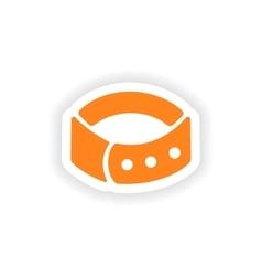 Icon sticker realistic design on paper dog-collar vector