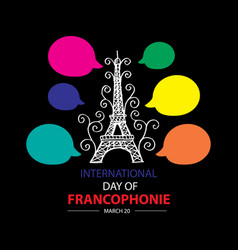 international day of francophonie vector image