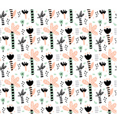 jungle flowers pattern vector image