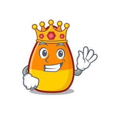 King candy corn placed on character plate vector