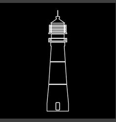 Lighthouse white color path icon vector
