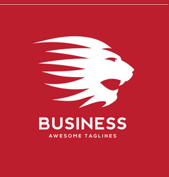 lion roaring logo template vector image