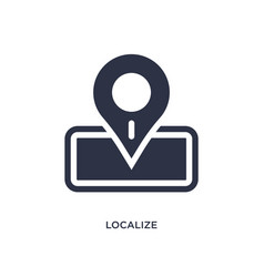 Localize icon on white background simple element vector