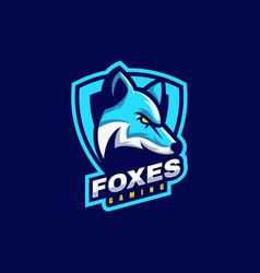 logo fox e-sport and sport style vector image