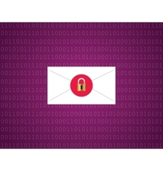 message email data protection encryption envelope vector image