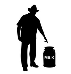 milkman or farmer showing milk can vector image