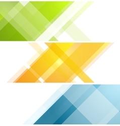 Minimal tech geometric banners vector